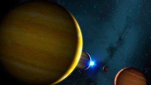 """Universum: Stirbt der Stern HR 8799, entsteht ein gewaltiger """"Weltraum-Flipper"""""""