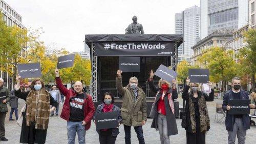 Frankfurt: Kundgebung gegen belarussischen Präsidenten Lukaschenko