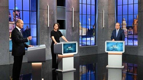 Triell zur Bundestagswahl 2021: Nassforsche Fragen der Moderatorinnen