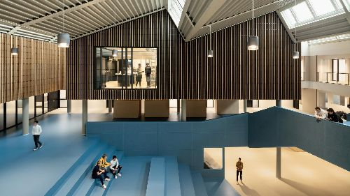 Sociability, sustainability: how this Dutch high school was renovated for the times