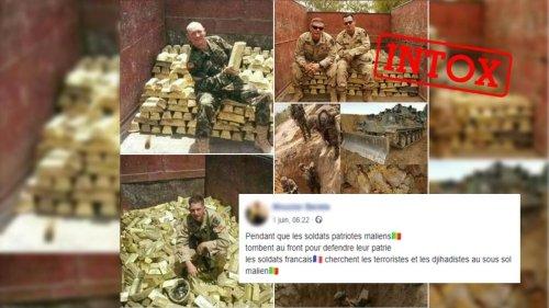 Des images de soldats français au Mali pillant les réserves d'or du pays ? Attention, intox !