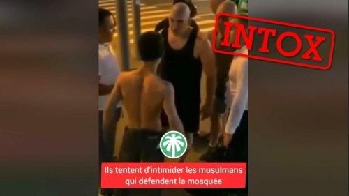 Ces hommes ne défendent pas une mosquée, mais répondent à des slogans nationalistes