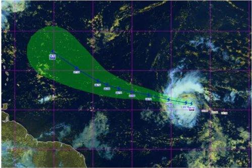 """La Tempête tropicale """"Sam"""" particulièrement surveillée par les services météorologiques - Guadeloupe la 1ère"""