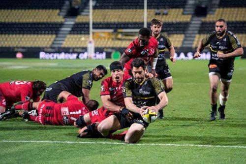 Top 14 : La Rochelle s'impose face au Lou 38-23 et rejoint Toulouse en tête du classement.