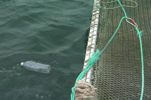 Pollution marine : l'Itsas Belara ramasse les déchets flottants au large de la Côte basque