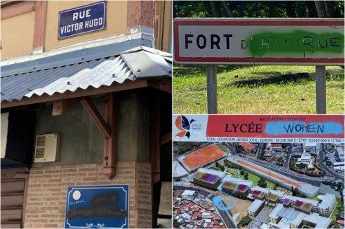 Statues déboulonnées, panneaux signalétiques détériorés en Martinique : et après ? - Martinique la 1ère