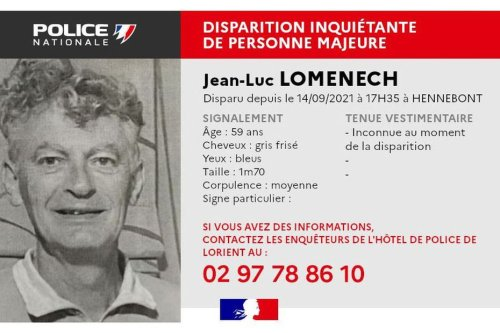 Disparition à Hennebont : sans nouvelles de Jean-Luc, la famille appelle les habitants en renfort