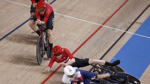 VIDEO. JO 2021 - Cyclisme sur piste : l'étonnante chute entre Danois et Britanniques en poursuite par équipes