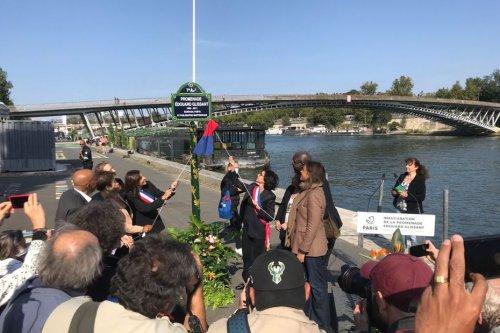 A Paris, Anne Hidalgo a inauguré la promenade Edouard Glissant en présence de Christiane Taubira - Outre-mer la 1ère