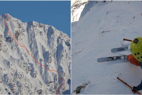 VIDEO. Skis aux pieds, piolet en main, le nouveau défi fou de Paul Bonhomme, spécialiste du ski de pente raide