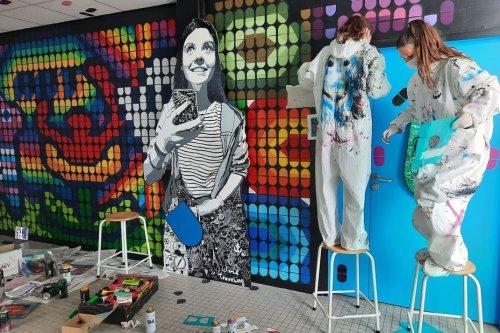 Ploemeur. Des collégiens initiés au street art par Speedy Graphito