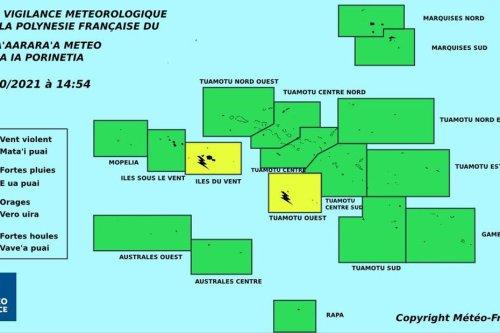 Temps perturbé jusqu'à dimanche aux Iles du vent - Polynésie la 1ère
