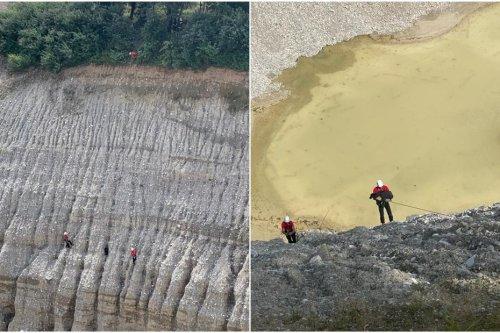 Isère : sauvetage spectaculaire d'un labrador coincé au milieu d'une gravière, les secouristes du GRIMP mobilisés