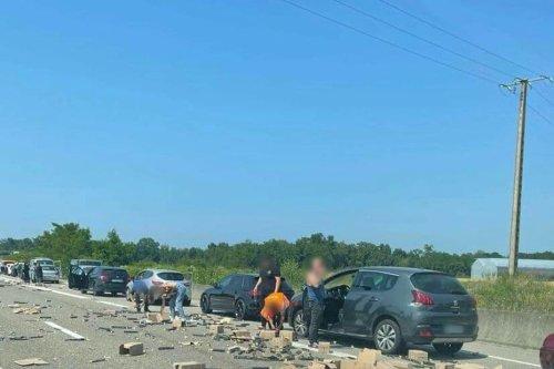 """Alsace : """"des mandarines oui, mais des capsules de café c'est inédit"""", après l'accident sur l'A35 entre Bâle et Mulhouse"""