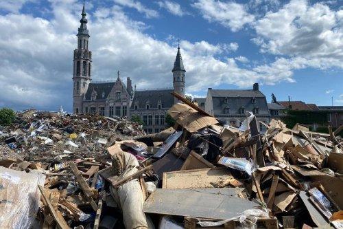 """Belgique : suite aux inondations les experts de la fondation """"Architectes de l'urgence"""" d'Amiens sont arrivés à Verviers"""