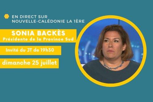 Sonia Backes, invitée du JT à 19h30 - Nouvelle-Calédonie la 1ère