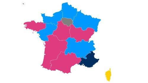 CARTE. Résultats des élections régionales : Bertrand et Wauquiez loin devant, Muselier et Mariani au coude-à-coude, Delga en pole position... Découvrez qui est en tête dans votre région