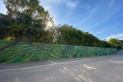 Villeneuve-Loubet : les résidents d'Ehpad participent à la création d'une fresque de street art