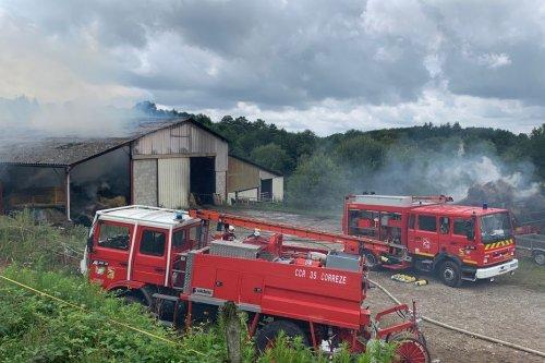 Deux incendies de bâtiments agricoles en Corrèze