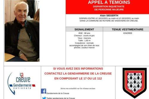 Disparition inquiétante d'un homme de 68 ans à Royère de Vassivière en Creuse