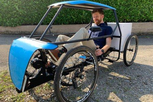 Haut-Rhin : un véhicule du futur, mi-voiture mi-vélo électrique, a vu le jour dans les ateliers d'une start-up