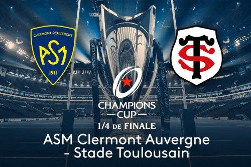 Coupe d'Europe de rugby : quart de finale Clermont-Stade Toulousain en direct vidéo sur le site de France3 ce dimanche