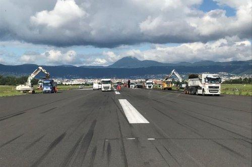 VIDEO. Clermont-Ferrand : les travaux de la piste de l'aéroport battent leur plein
