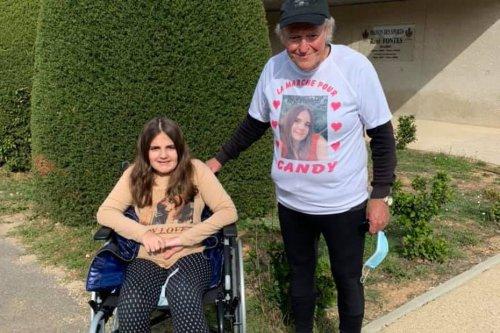 A Eygalières, Michel marche 200 kilomètres en 4 jours pour aider Candy