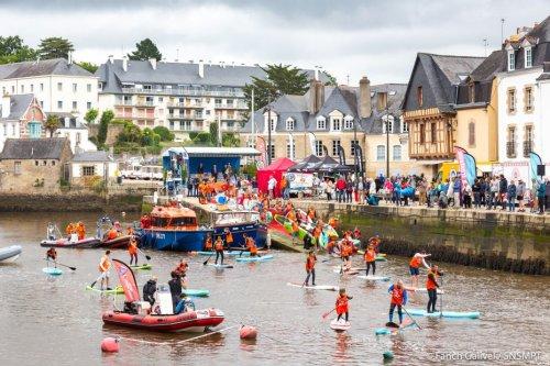 Auray : 7eme édition du SNSM Morbihan Paddle Trophy au port de Saint-Goustan