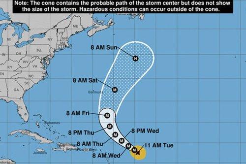 L'ouragan Sam devrait passer au nord-est de l'arc antillais entre mercredi et jeudi...houle prévue en Guadeloupe et Martinique - Martinique la 1ère