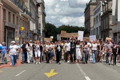 Nouvelle manifestation contre le pass sanitaire à Limoges