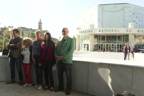 A Nice, les écologistes toujours mobilisés contre la destruction du Théâtre National de Nice
