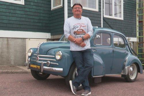 """2/5 Des voitures d'exception : Jean-Christophe Lebon aux petits soins pour """"Choupette"""", sa 4L - Saint-Pierre et Miquelon la 1ère"""