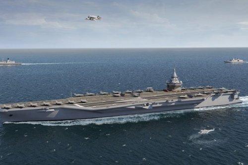 Saint-Nazaire : une première pièce du futur porte-avions nucléaire coulée