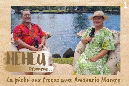HEHEU : la pêche aux trocas avec Amonaria Marere - Polynésie la 1ère