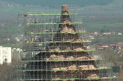 Saône-et-Loire : la pyramide de Couhard à Autun subit une importante restauration