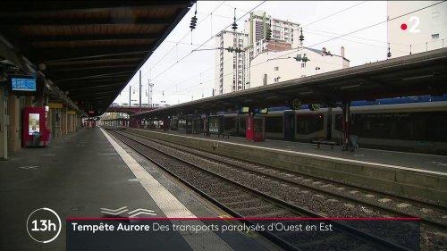 Tempête Aurore : plusieurs gares interrompent leur trafic