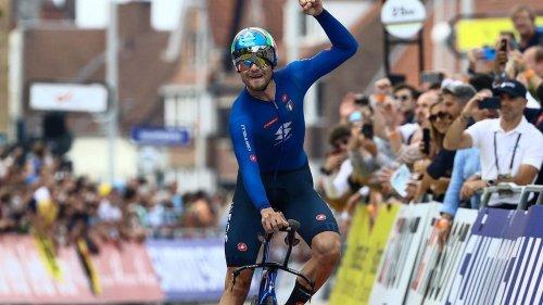 Cyclisme : Filippo Ganna conserve son titre de champion du monde du contre-la-montre devant Wout van Aert et Remco Evenepoel