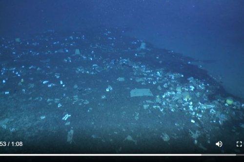 Du plastique retrouvé jusqu'à 2200 m en Méditerranée