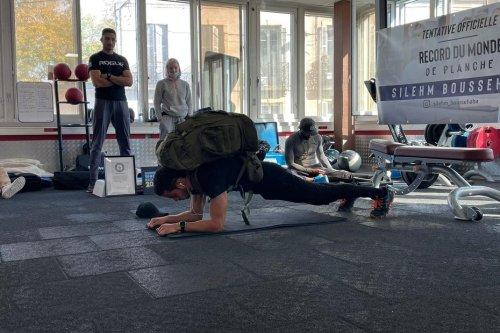 En tenant 4 minutes 50 avec 91 kilos sur le dos, un Dijonnais bat le record du monde de gainage lesté