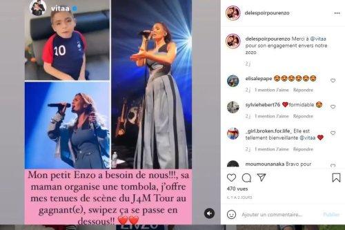 Rouen : la chanteuse Vitaa offre une de ses tenues pour les soins d'Enzo