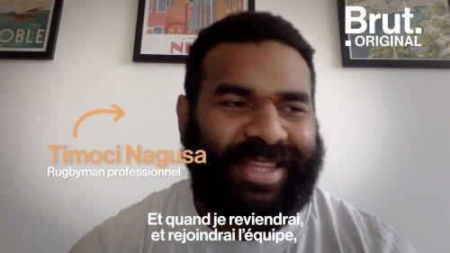 """VIDEO. Congé paternité : """"Je veux être là pour elle cette fois"""", confie le rugbyman Timoci Nagusa"""