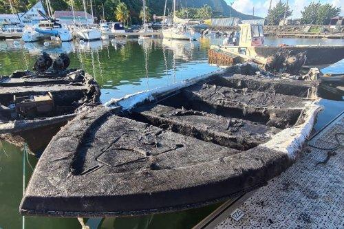 Quatre canots de pêche détruits par un incendie à la marina de Rivière Sens - Guadeloupe la 1ère