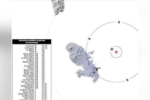 Léger séisme (magnitude 3.9) enregistré samedi soir au nord−est du Vauclin - Martinique la 1ère
