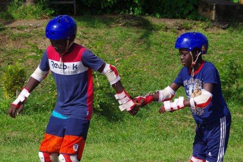 Stage d'initiation à la pratique du roller skate à Apatou - Guyane la 1ère