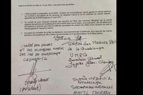 Les marins-pêcheurs, l'Etat et la SARA signent un accord qui met un terme au blocage du port de Pointe-à-Pître - Guadeloupe la 1ère