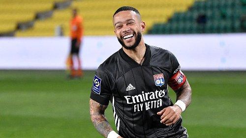 Ligue 1 : grâce à un doublé de Depay, Lyon bat Nantes et recolle au trio de tête