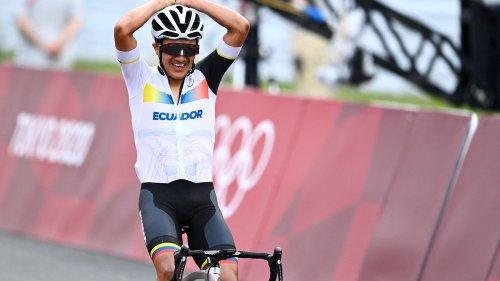 JO 2021 - Cyclisme : l'Équatorien Richard Carapaz champion olympique sur route devant Wout van Aert et Tadej Pogacar, David Gaudu 7e