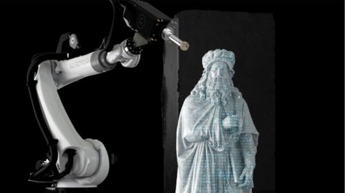 Sculpting robots chisel art out of marble