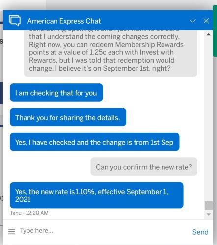 Reps: Schwab Platinum Invest with Rewards at 1.1c starting 9/1/21